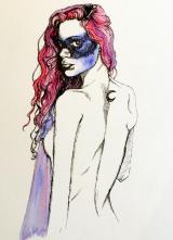 Judith - 30€ - 23,00 x 31,00 cm - Encre et aquarelle - Aquarelle originale - Vendue sans cadre
